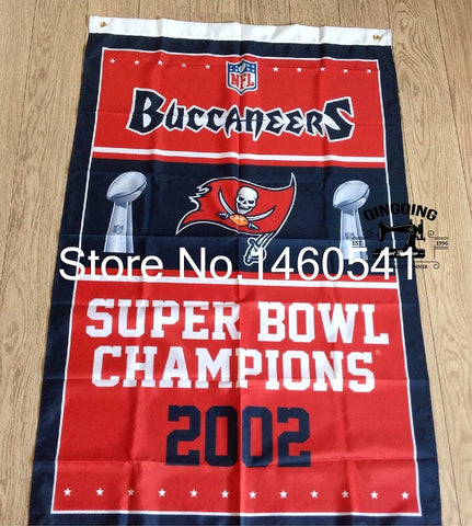 Tampa Bay Buccaneers Super Bowl Champions Banner Flying Flag