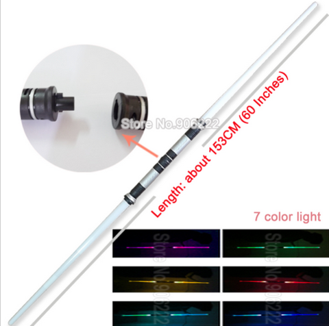 DOUBLE-BLADED LED LIGHTSABER WITH SOUND EFFECTS & CHANGES 7 DIFFERENT COLORS
