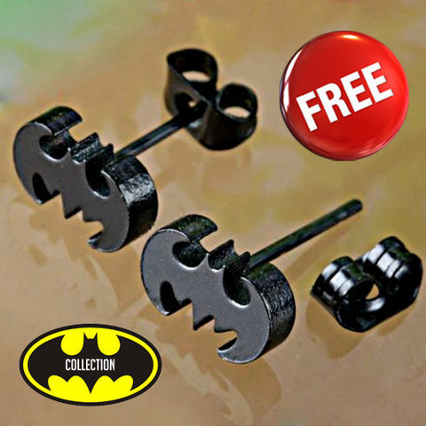 BATMAN STAINLESS STEEL EARRING