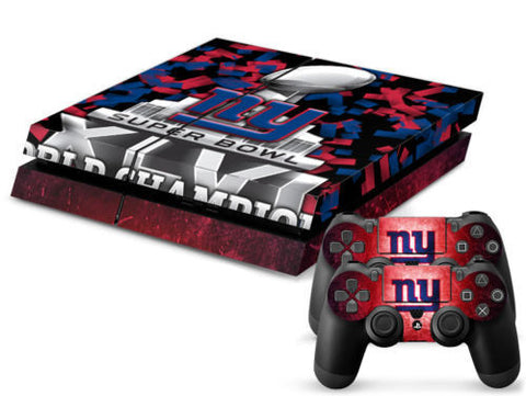 New York Giants Skin For Playstation 4 PS4 Console+Controllers