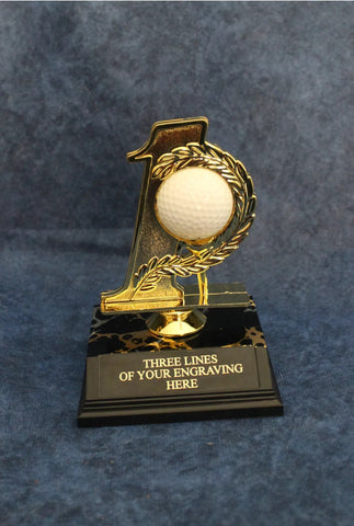 Personally Engraved Customized Golf Trophy