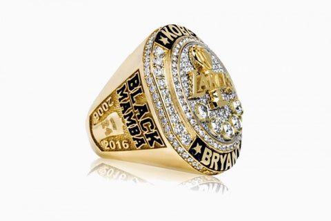 "Special Kobe Bryant Retirement ""20 Year"" Laker Fan Ring"
