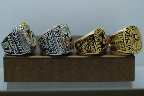 Pittsburgh Penguins NHL Stanley Cup Championship 4 Ring Set