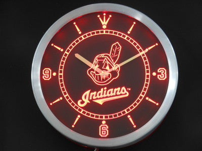 Cleveland Indians LED Wall Clock