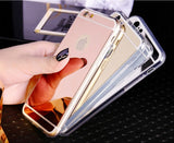 Luxury Mirror Clear Soft Case For Iphone 6/6s & 6/s Plus, 7 & 7Plus Models