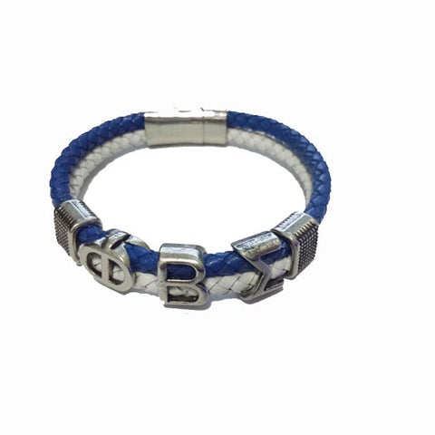 Phi Beta Sigma Leather Magnetic Bracelet