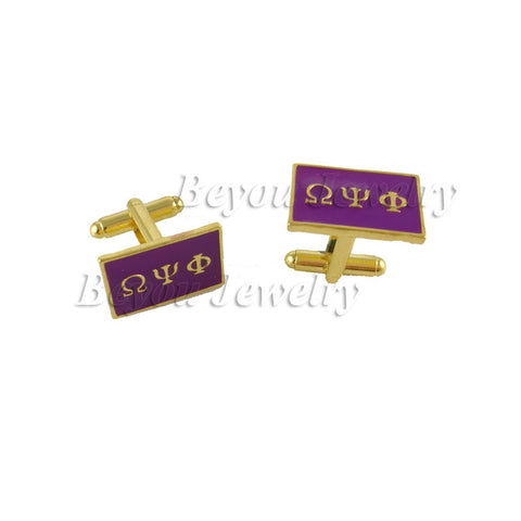 Omega  Psi Phi Fraternity Accessory Cufflinks