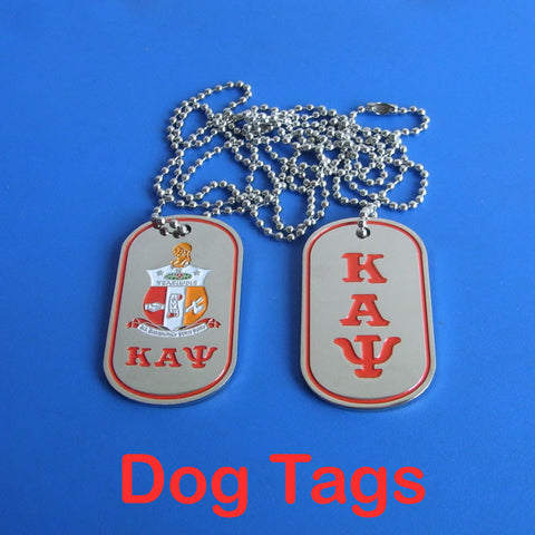 Kappa Alpha Psi Fraternity  Greek Double Sided Dog Tags