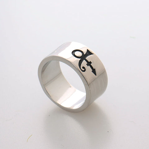 Prince RIP The Artist Symbol Silver Ring