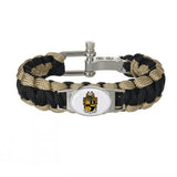 Alpha phi Alpha Fraternity Adjustable Paracord Survival Bracelet