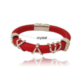 Kappa Alpha Psi Fraternity Leather Magnetic Bracelet