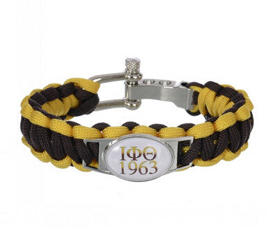 Iota Phi Theta Fraternity Adjustable Paracord Survival Bracelet