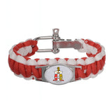 Kappa  Alpha Psi Fraternity Adjustable Paracord Survival Bracelet