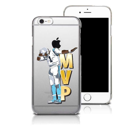 Carolina Panthers Cam Newton Clear Phone Case