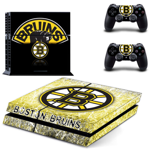 Boston Bruins PS4 Sticker For PS4 Console and 2 Controller Protective Skin Stickers