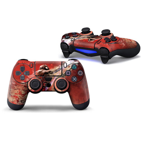 PS4 Red Jordan Skin for 2 Wireless Controllers