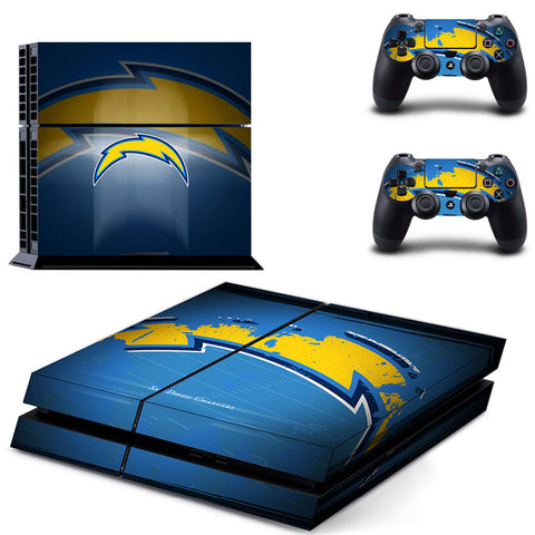 San Diego Chargers PS4 Skin For Console and 2 Controller Protective Sticker