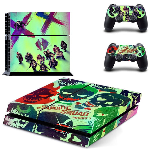 Suicide Squad PS4 Skin For Console + 2 Controllers