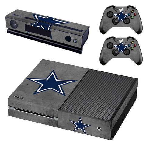 Dallas Cowboys XBox One Skin For Console + 2 Controllers + Kinect
