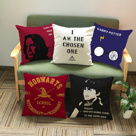 Harry Potter Square Decorative Pillow Case