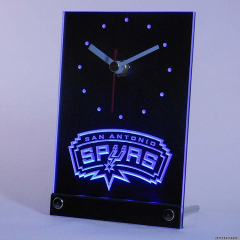 San Antonio Spurs 3D LED Table Clock