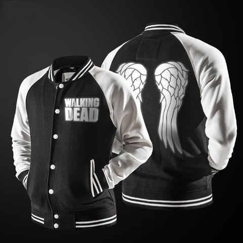 The Walking Dead Darryl Dixon Wings Letterman Style Jacket