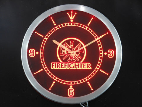 Fire Fighter LED Wall Clock