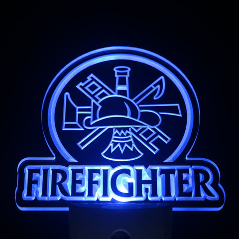Firefighter Department LED Light Sign