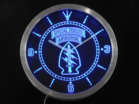 US Army Special Forces AirBorne  LED Wall Clock