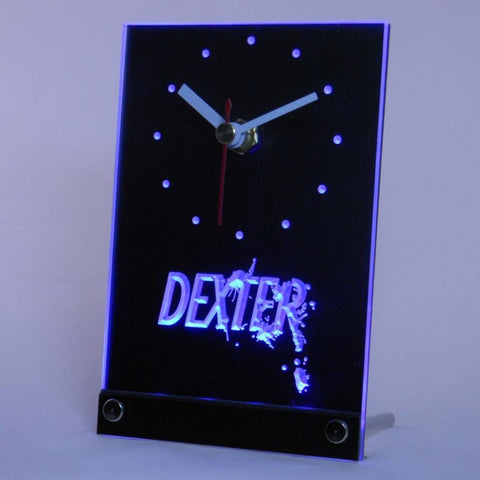 Dexter Morgan Table Desk LED Clock