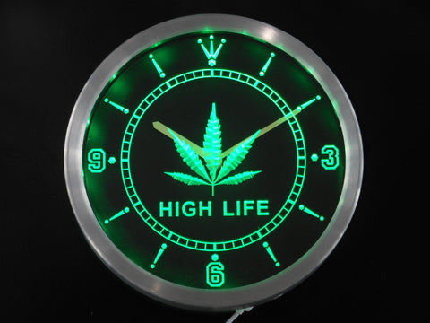 Herb High Life LED Wall Clock