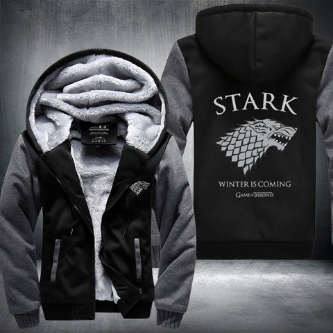 Game of Thrones House of Stark Winter Fleece Hoodie Jacket