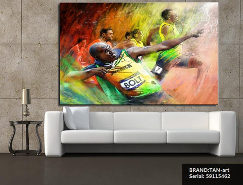 Usain Bolt Oil Painting 2016 Olympics