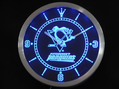 Pittsburgh Penguins LED Wall Clock