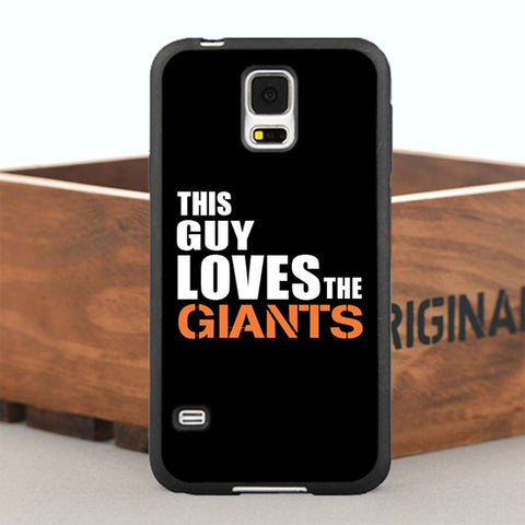 This Guy Loves Giants Case for iPhone and Samsung Phone Models