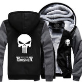 Punisher Skull Fleece Hoodie Jacket
