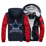 Cowboys Winter Style Thick Hoodie Jacket
