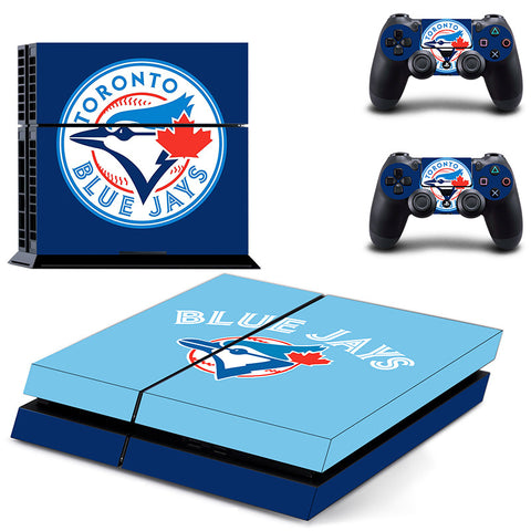 Toronto Blue Jays PS4 Skin For Console and 2 Controllers Stickers