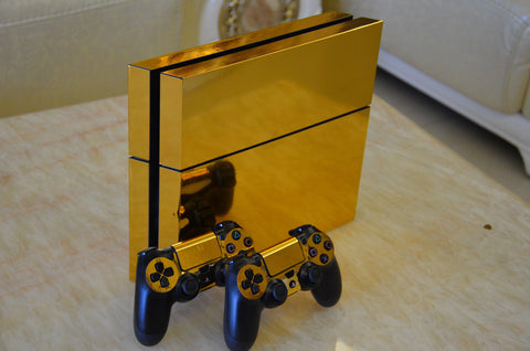Gold Royal PS4 Skin Console + 2 Controllers