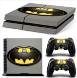Custom Batman Dark Knight Skins for PS4 + 2 Controllers