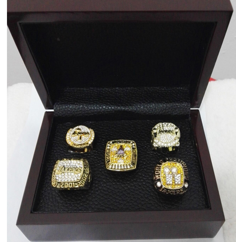 (FREE SHIPPING) Kobe 5 Ring Championship Set