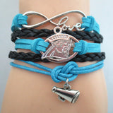 New Infinity Love NFL CAROLINA PANTHERS Football Team Bracelet