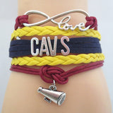 Infinity Love Cleveland Cavs Bracelet Gift (Just Pay Shipping)