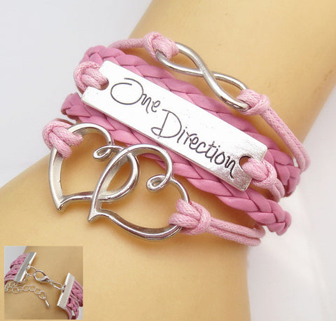 Infinity LOVE One Direction Bracelet FREE Just Pay Shipping