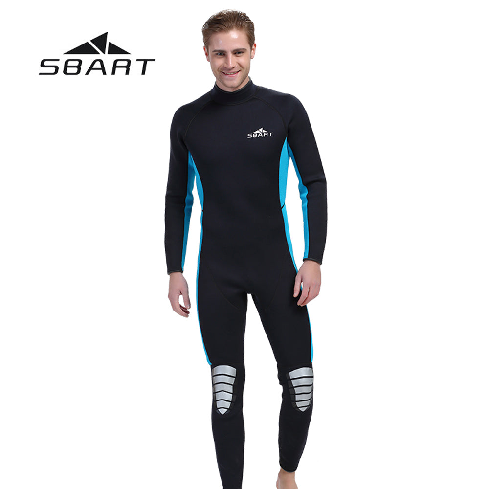SBART 3mm Neoprene Men Scuba Diving Wetsuit Kite Surfing Snorkeling Full  Body Swimwear Water Sports Triathlon Spearfishing Suit df8b30d98
