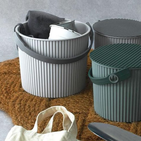 Omnioutil Storage Bucket with Lid - Green