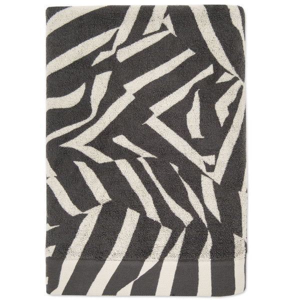 Smash bath towel- Charcoal