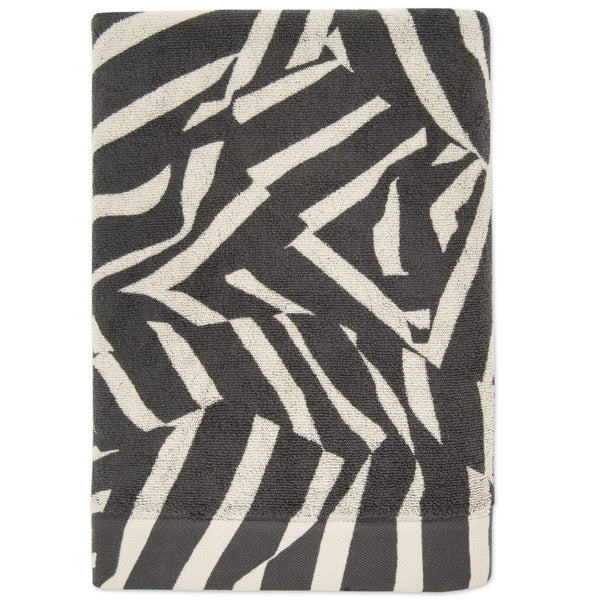 Smash hand towel- Charcoal