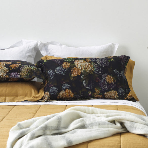 hydrangea pillowcases