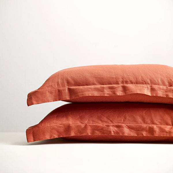 Brick Linen Pillowcases